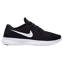 Buy Nike Free RN Women's Running Shoes, Black/White Online at johnlewis.com
