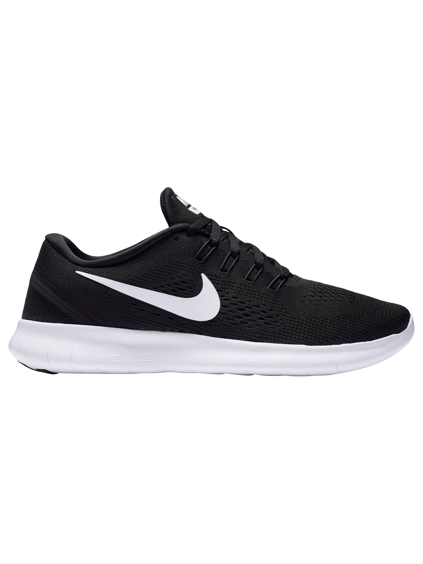 new style a0b95 b82fb Buy Nike Free RN Women s Running Shoes, Black White, 4 Online at johnlewis  ...