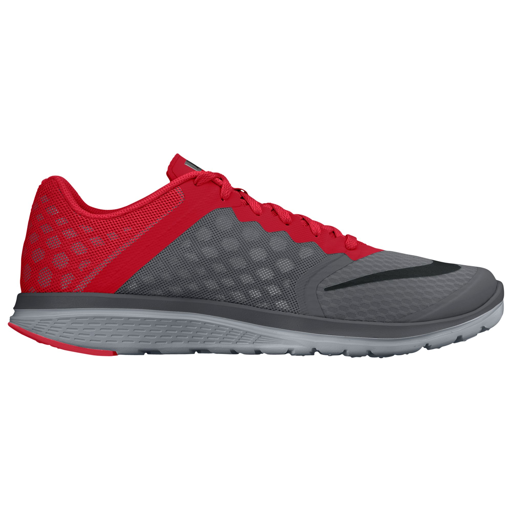 finest selection 2ea02 ce2b0 Nike FS Lite Run 3 Men s Running Shoes, Grey Red at John Lewis   Partners