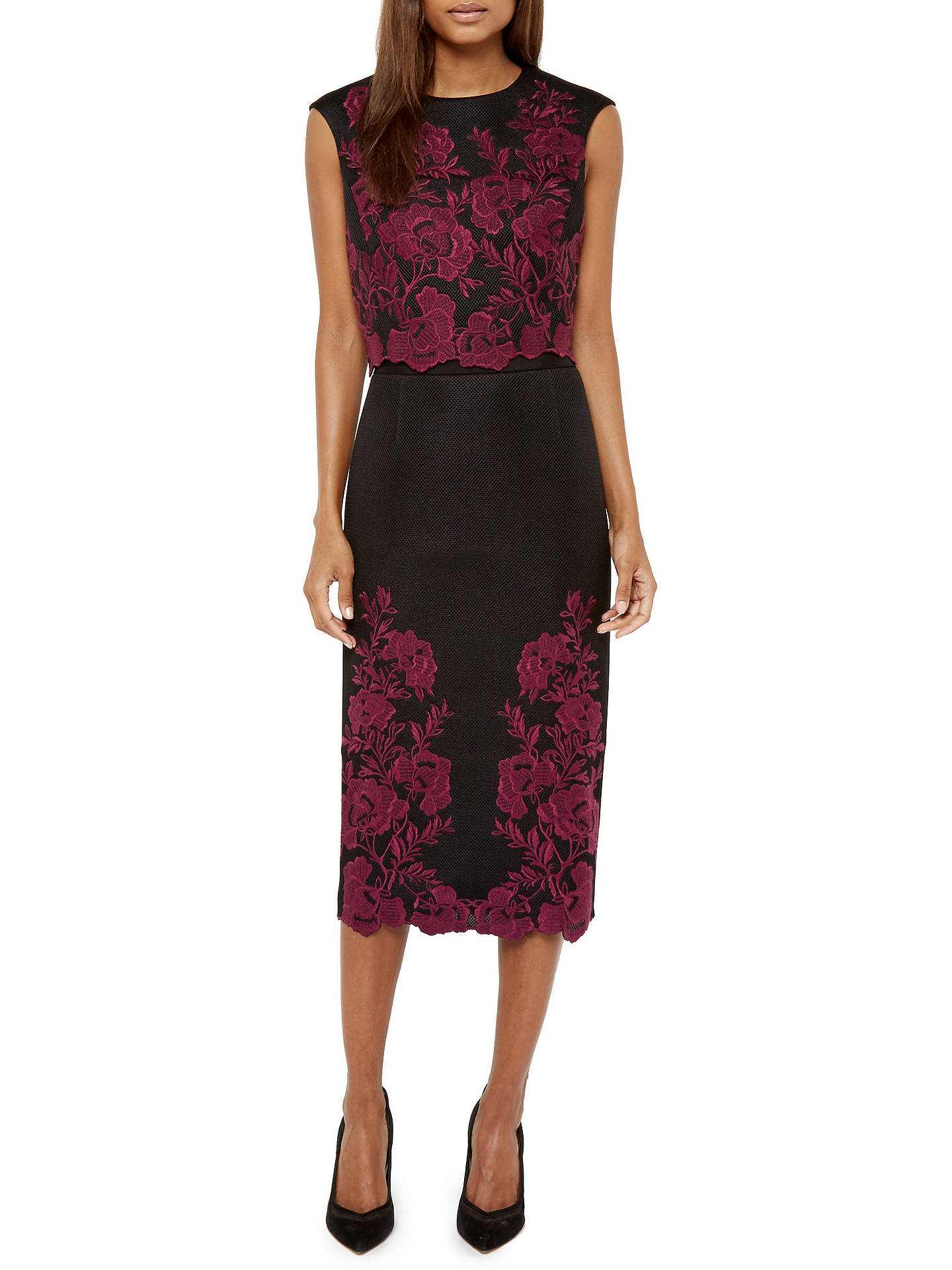 efaf398529aa7 ... Buy Ted Baker Vynus Embroidered Mesh Lace Top