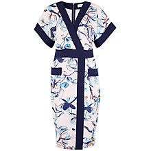 Buy Closet Floral Print Kimono Dress, Multi Online at johnlewis.com