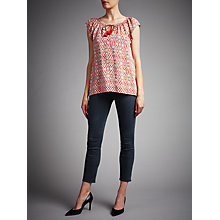 Buy J Brand Mid Rise Cropped Rail Jeans, Direct Blue Black Online at johnlewis.com