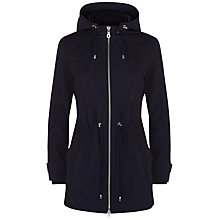 Buy Jaeger Curved Hem Hooded Parka, Midnight Online at johnlewis.com