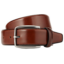 Buy John Lewis Made in Italy Burnished Leather Belt, Tan Online at johnlewis.com