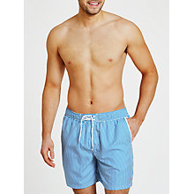 Buy Original Penguin Exclusive Stripe Swim Shorts, Blue Online at johnlewis.com
