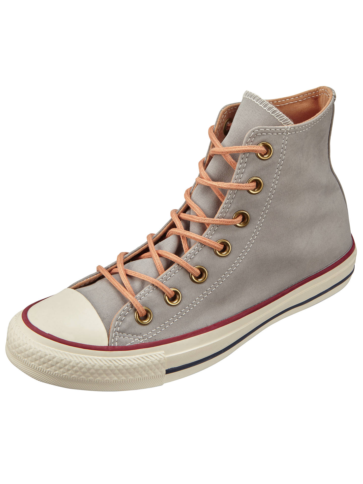 257ad4f137f Buy Converse Chuck Taylor All Star Peached Hi Top Trainers, Dolphin, 3  Online at ...