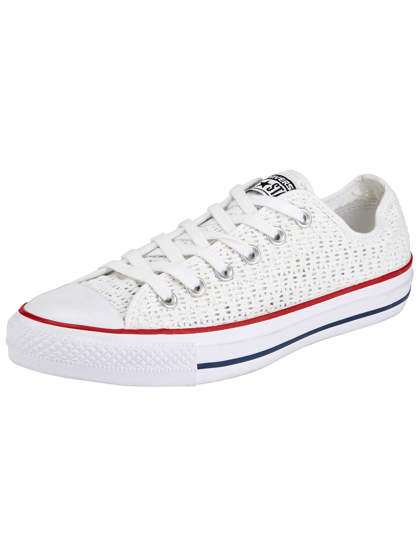 8bd3c44fcf92 Converse Chuck Taylor All Star Ox Crochet Trainers at John Lewis ...