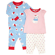 Buy John Lewis Baby Cat Print Pyjamas, Pack of 2, Multi Online at johnlewis.com
