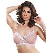 Buy Royce Rosie Caress Bra, Pink/Cream Online at johnlewis.com