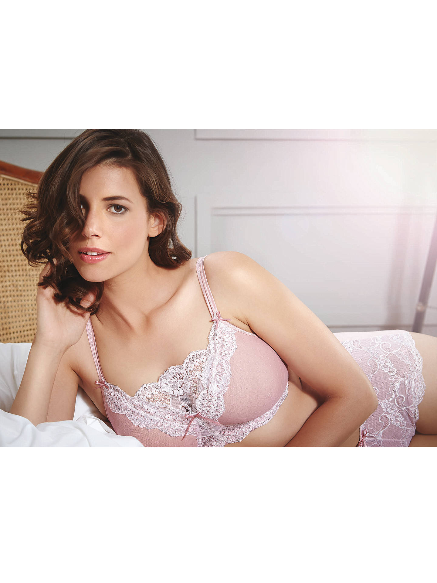 Buy Royce Rosie Caress Bra, Pink/Cream, 34A Online at johnlewis.com
