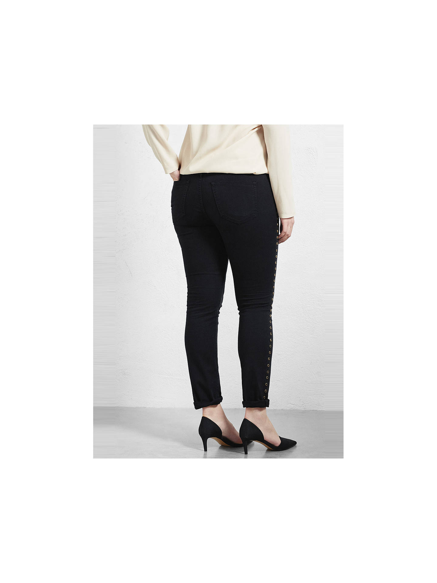 1c555fc44532ae ... Buy Violeta by Mango Stud Detail Slim Fit Jeans, Black, 14 Online at  johnlewis ...