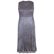 Buy Chesca Chiffon And Lace Pleat Dress, Steel Online at johnlewis.com