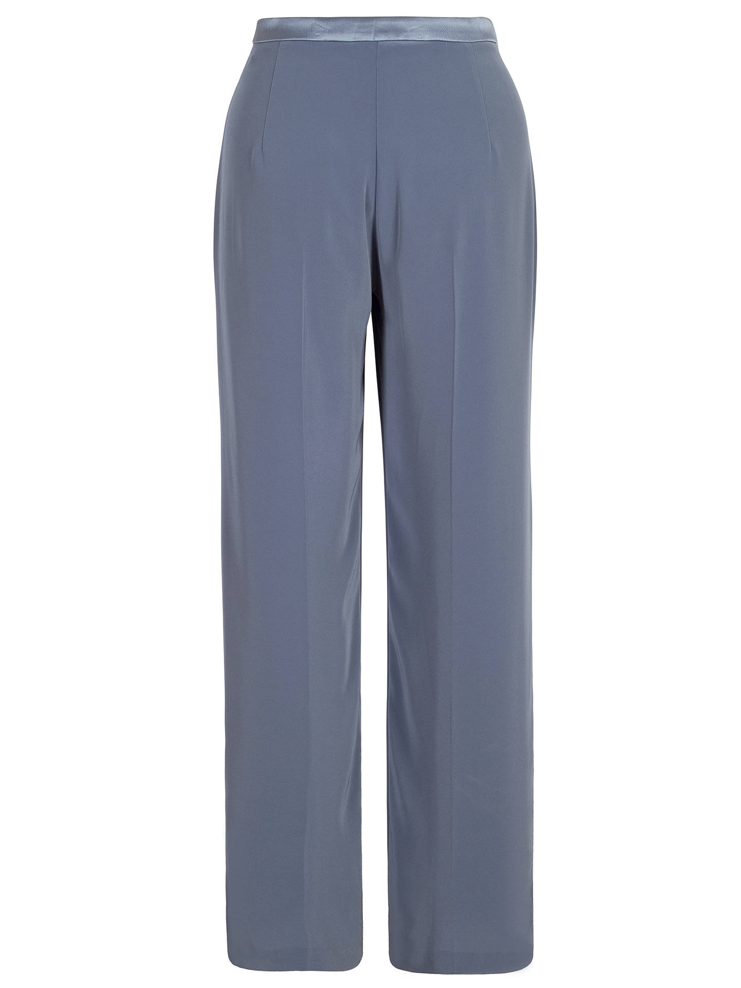 BuyChesca Top Stitched Waist Satin Back Trousers, Steel, 12 Online at johnlewis.com