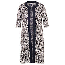 Buy Chesca Scallop Lace Coat, Navy/Ivory Online at johnlewis.com