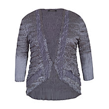 Buy Chesca Pleat Lace and Satin Shrug, Steel Online at johnlewis.com