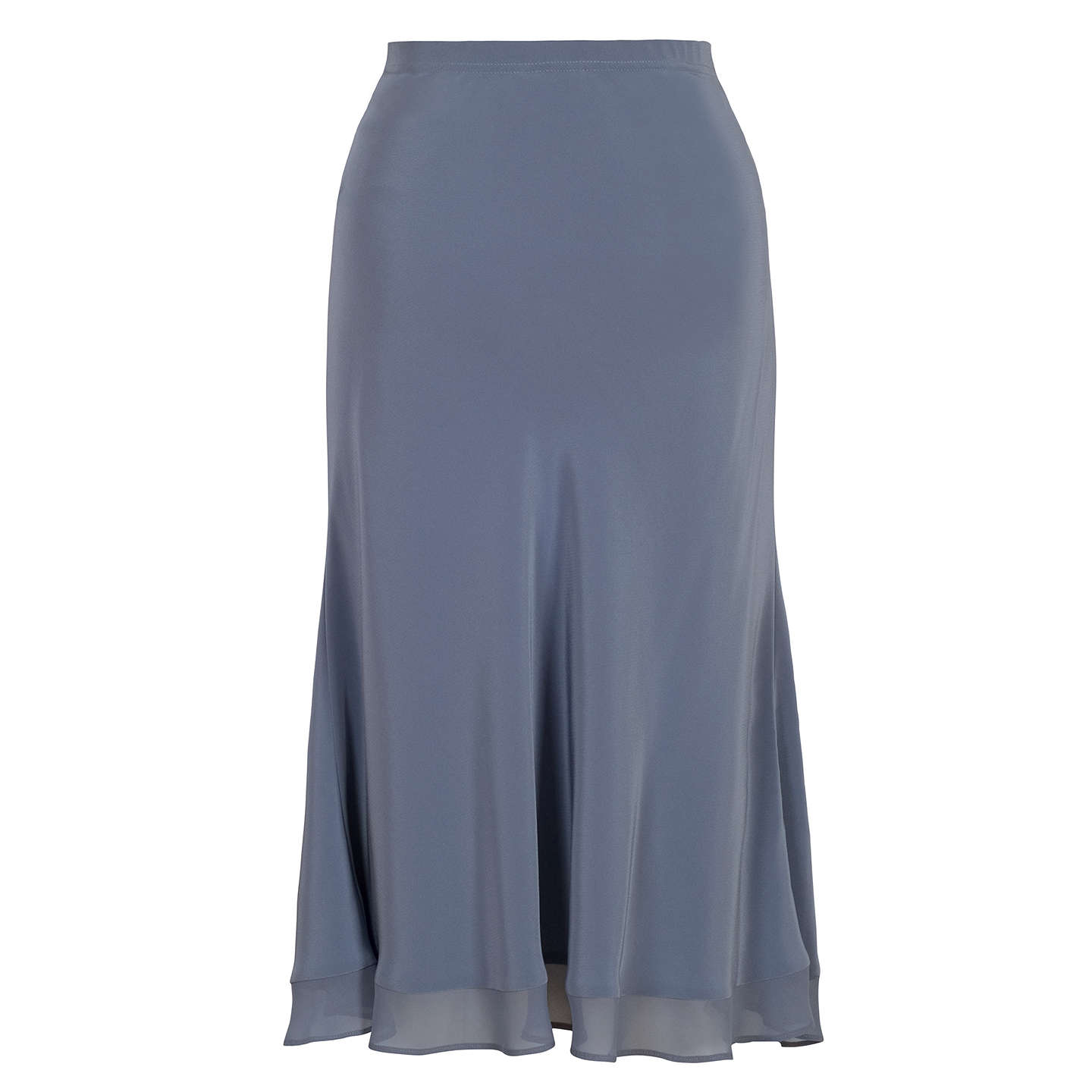 BuyChesca Satin Crepe Skirt, Steel, 14 Online at johnlewis.com