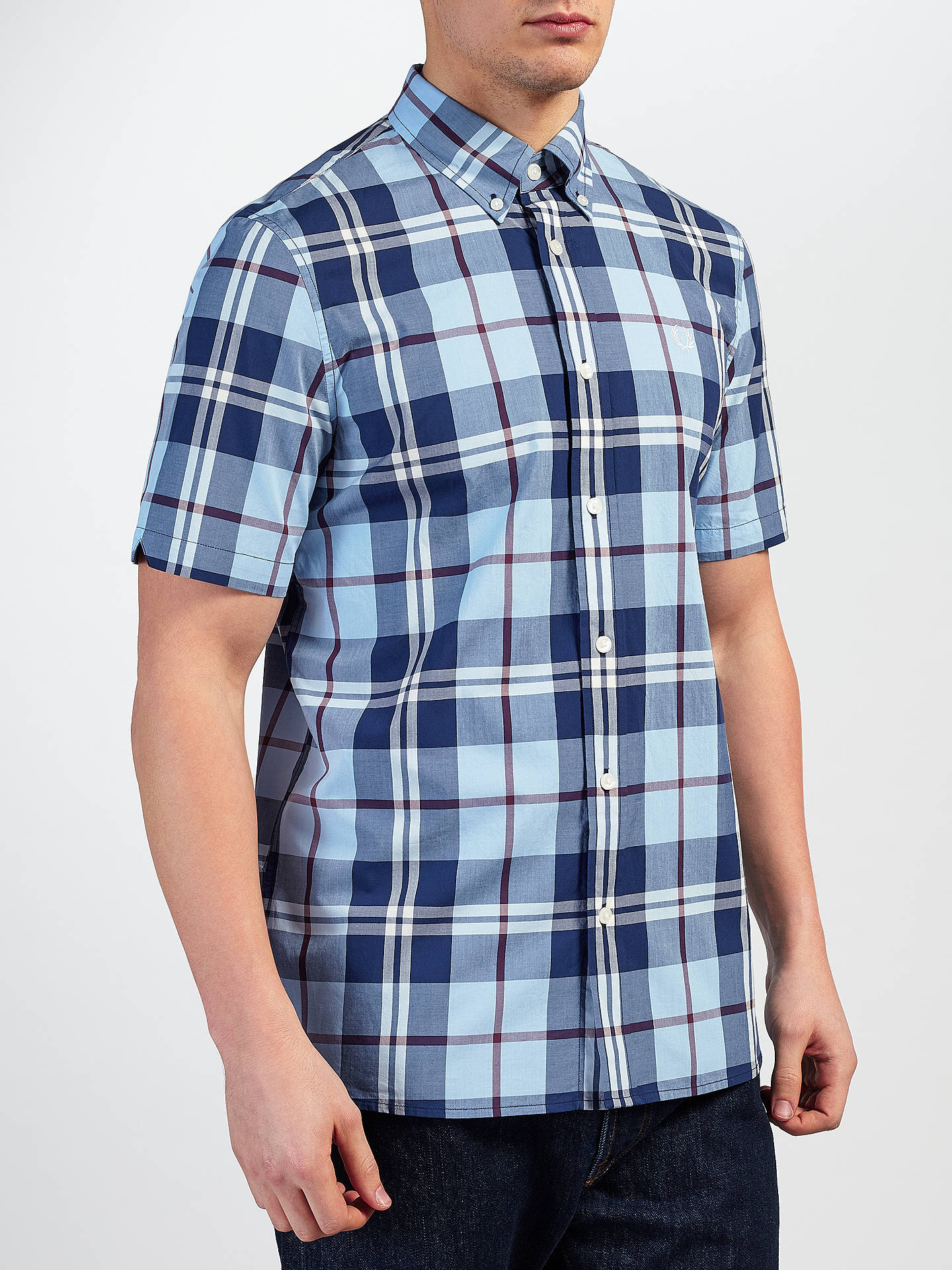 25a9271d6 Fred Perry Bold Short Sleeve Check Shirt at John Lewis   Partners