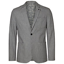 Buy Selected Homme Onestep Blazer, Grey Melange Online at johnlewis.com