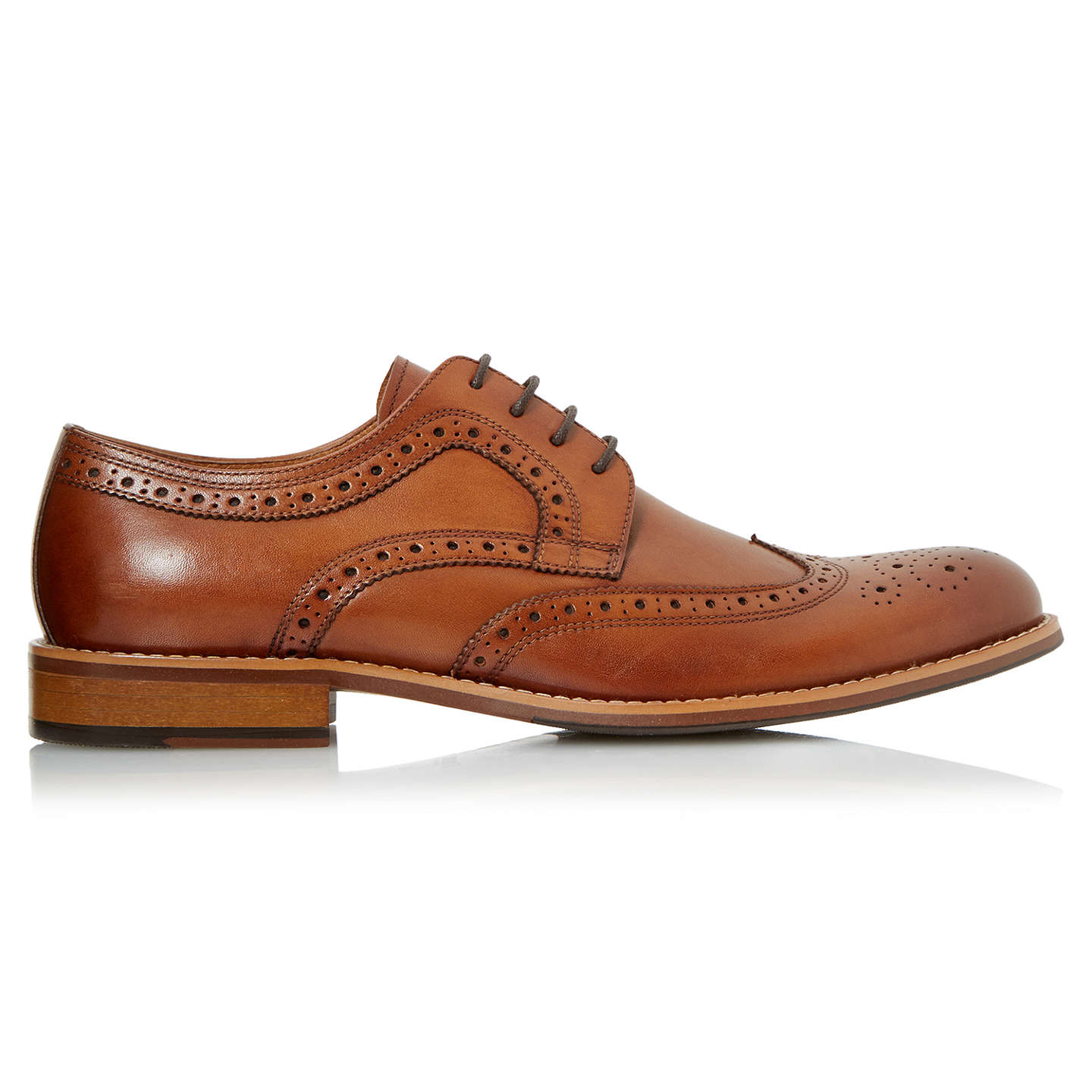 BuyDune Radcliffe Derby Lace-Up Brogue Shoes, Tan, 6 Online at johnlewis.