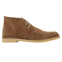 Buy Dune Calabassas Lace-Up Desert Boots, Tan Online at johnlewis.com