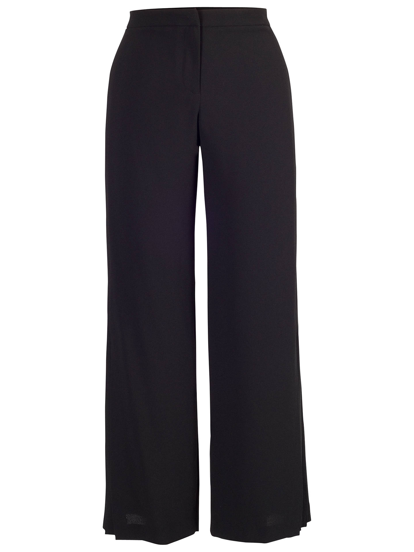 Buy Chesca Pleated Trim Trousers, Black, 12 Online at johnlewis.com