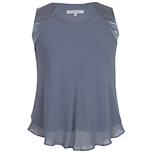 Buy Chesca Jersey Lined Chiffon Cami, Steel Online at johnlewis.com