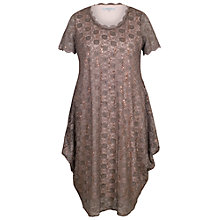 Buy Chesca Scallop Lace And Sequin Dress, Mocha Online at johnlewis.com