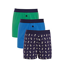 Buy John Lewis Boys' Skull Boxers, Pack of 3, Blue Online at johnlewis.com