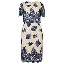 Buy Phase Eight Ariel Lace Dress, Navy/Oyster Online at johnlewis.com