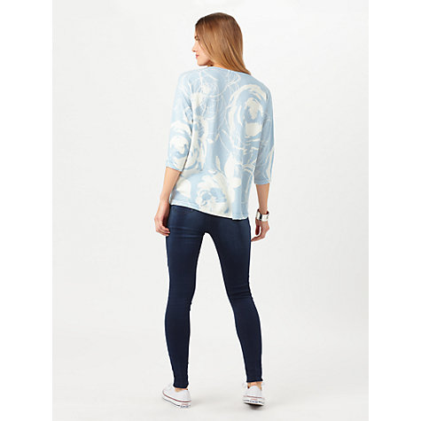 Buy Phase Eight Donelle Print Knit Top, Soft Blue Online at johnlewis.com