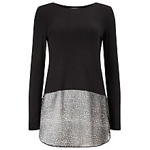 Buy Phase Eight Carys Layered Spot Top, Black Online at johnlewis.com