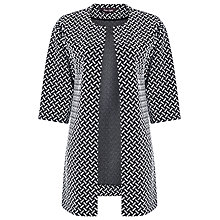 Buy Phase Eight Basket Weave Judie Coatigan, Black/White Online at johnlewis.com