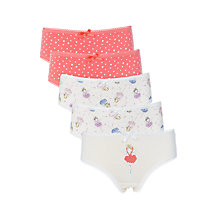 Buy John Lewis Girls' Fairy Briefs, Pack of 5, Multi Online at johnlewis.com
