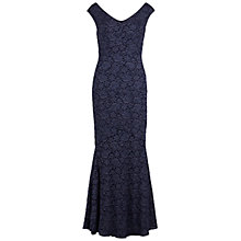 Buy Gina Bacconi Lace Fishtail Dress, Navy Online at johnlewis.com