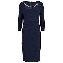 Buy Gina Bacconi Bead Neck Jersey Dress, Spring Navy Online at johnlewis.com
