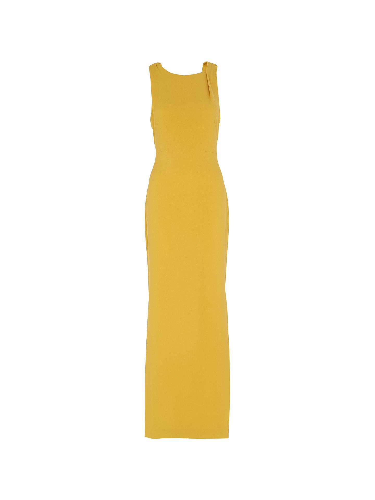 5fda380c4d8c Buy Whistles Tie Back Maxi Dress, Yellow, 6 Online at johnlewis.com ...