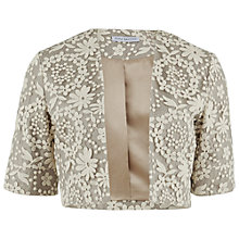Buy Gina Bacconi Daisy Chain Embroidered Mesh Bolero, Pearl Online at johnlewis.com