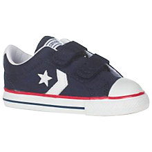 Buy Converse Children's Star Player 2V Shoes, Navy Online at johnlewis.com