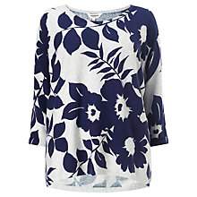 Buy Studio 8 Lucca Floral Print Jumper, Navy/Grey Online at johnlewis.com
