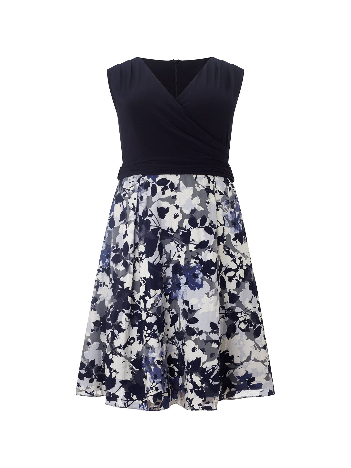 BuyStudio 8 Jessy Dress, Navy/Multi, 16 Online at johnlewis.com