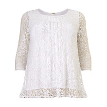 Buy Studio 8 Jemima Floral Top, White Online at johnlewis.com