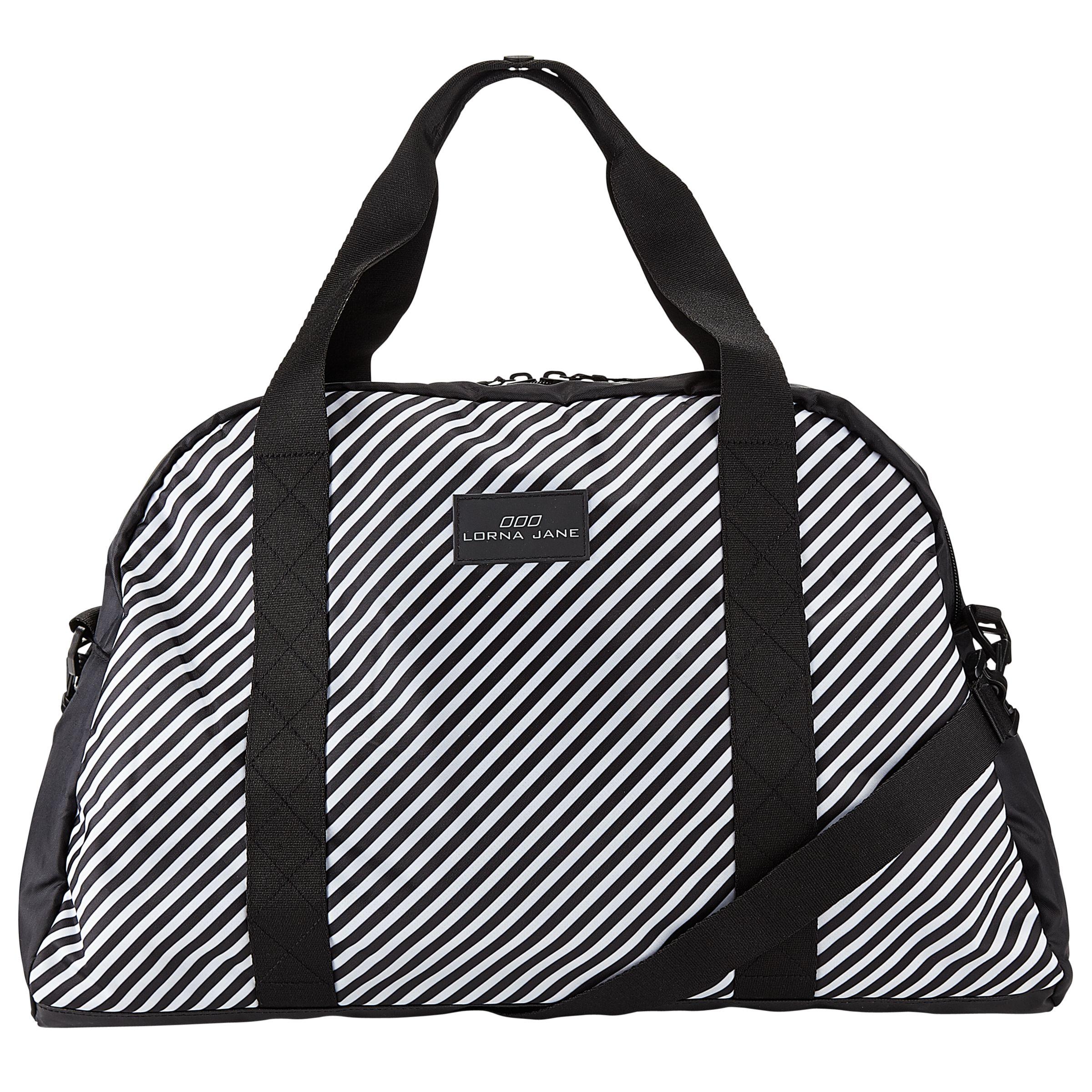 Lorna Jane Stripe Gym Bag Black White At John Lewis Partners
