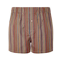 Buy Paul Smith Stripe Slim Woven Cotton Boxers, Multi Online at johnlewis.com