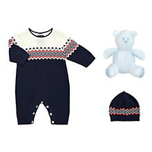 Buy Emile et Rose Baby Fair Isle Knit Romper Playsuit and Hat Set Online at johnlewis.com