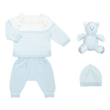 Buy Emile et Rose Baby Joey Knit 3-Piece Set, Blue/White Online at johnlewis.com