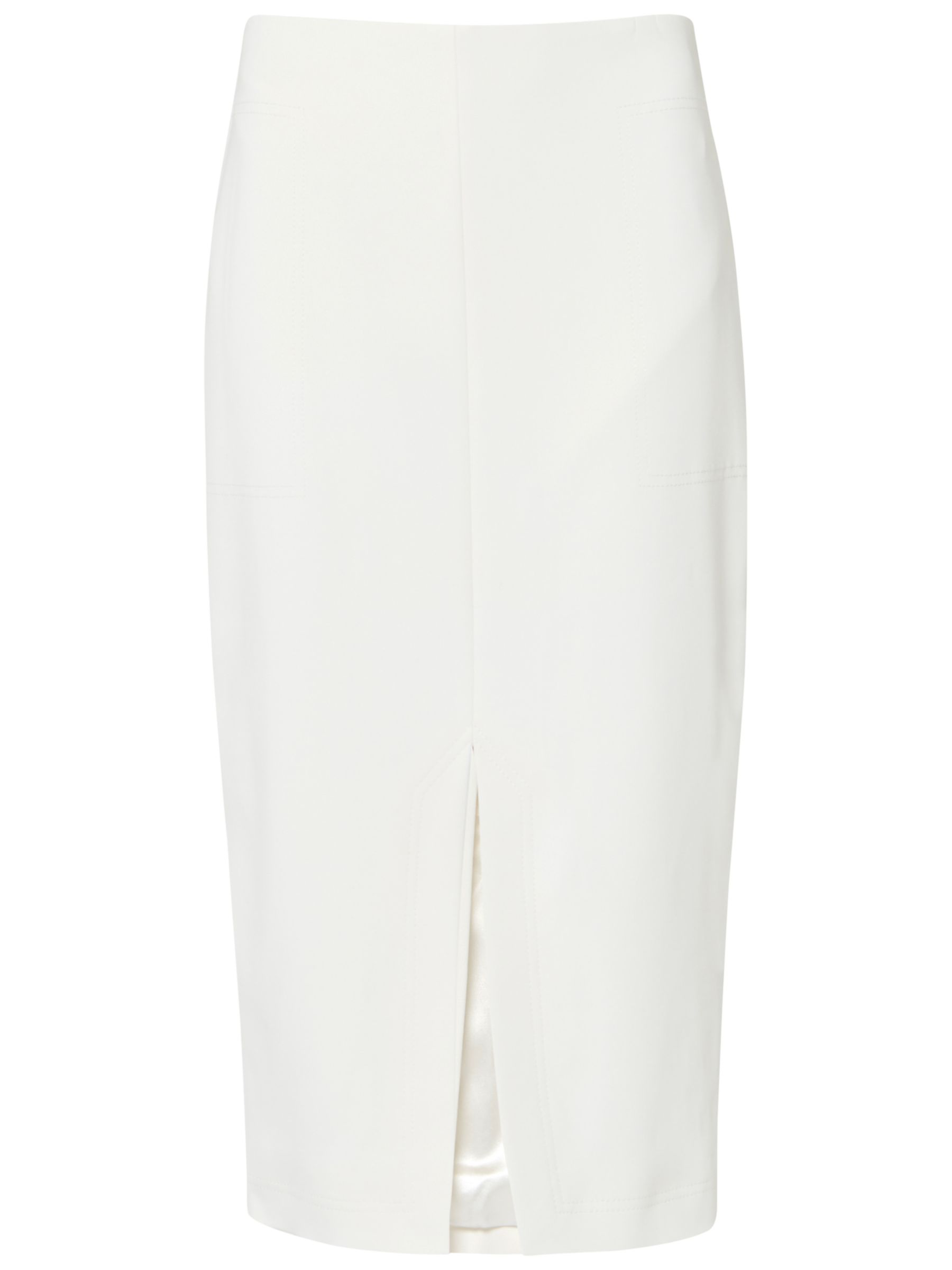 c3e37e709216ce Ted Baker Gemia High Waisted Pencil Skirt, Cream at John Lewis & Partners