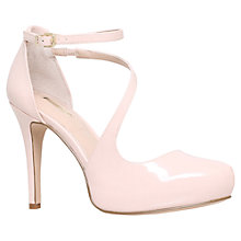Buy Carvela Antler Asymmetric Court Shoes, Pale Pink Patent Online at johnlewis.com