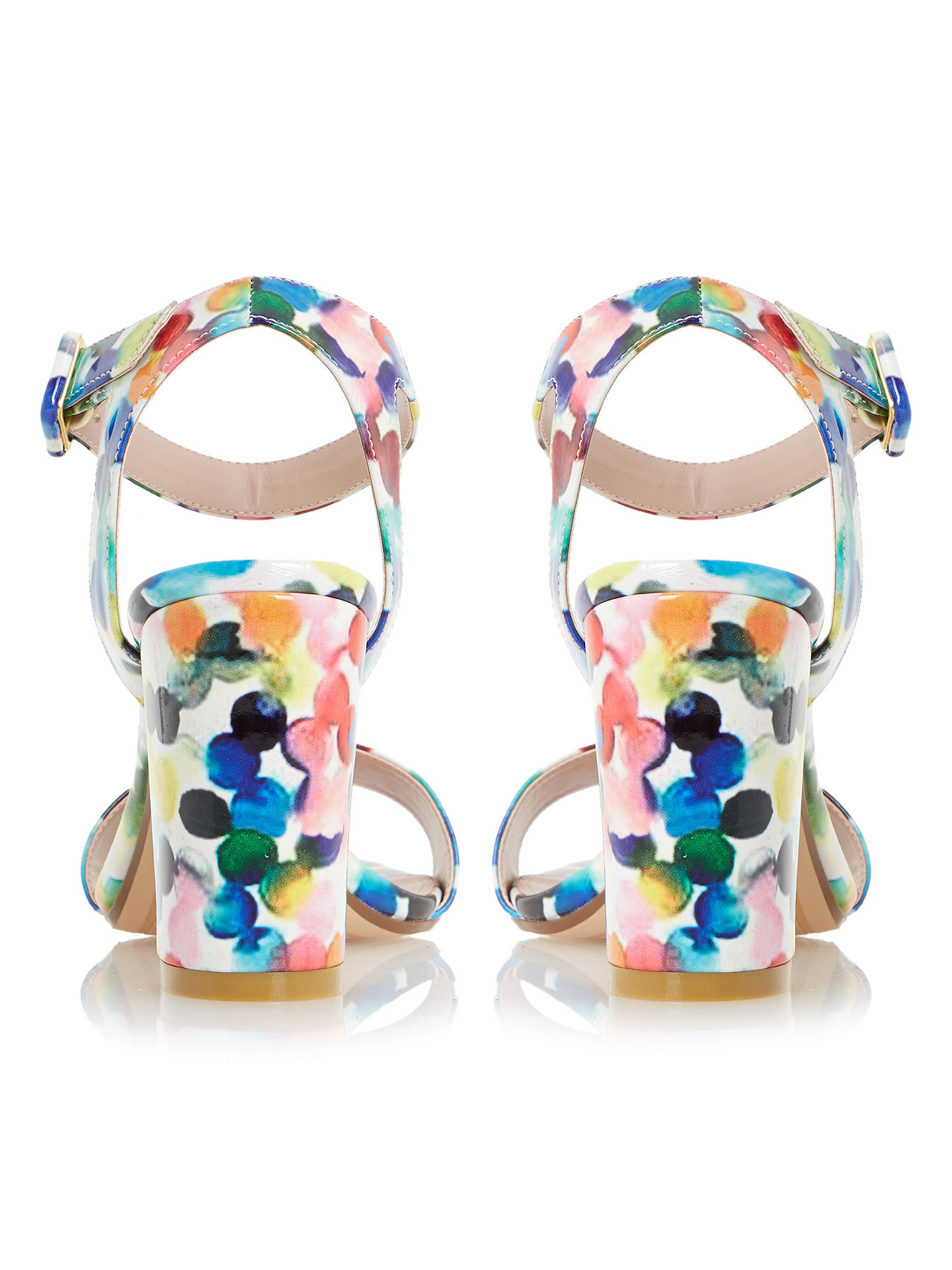 25b98bf3e ... Buy Dune Melrose Bubble Print Two Part Sandals, Multi Patent, 3 Online  at johnlewis ...