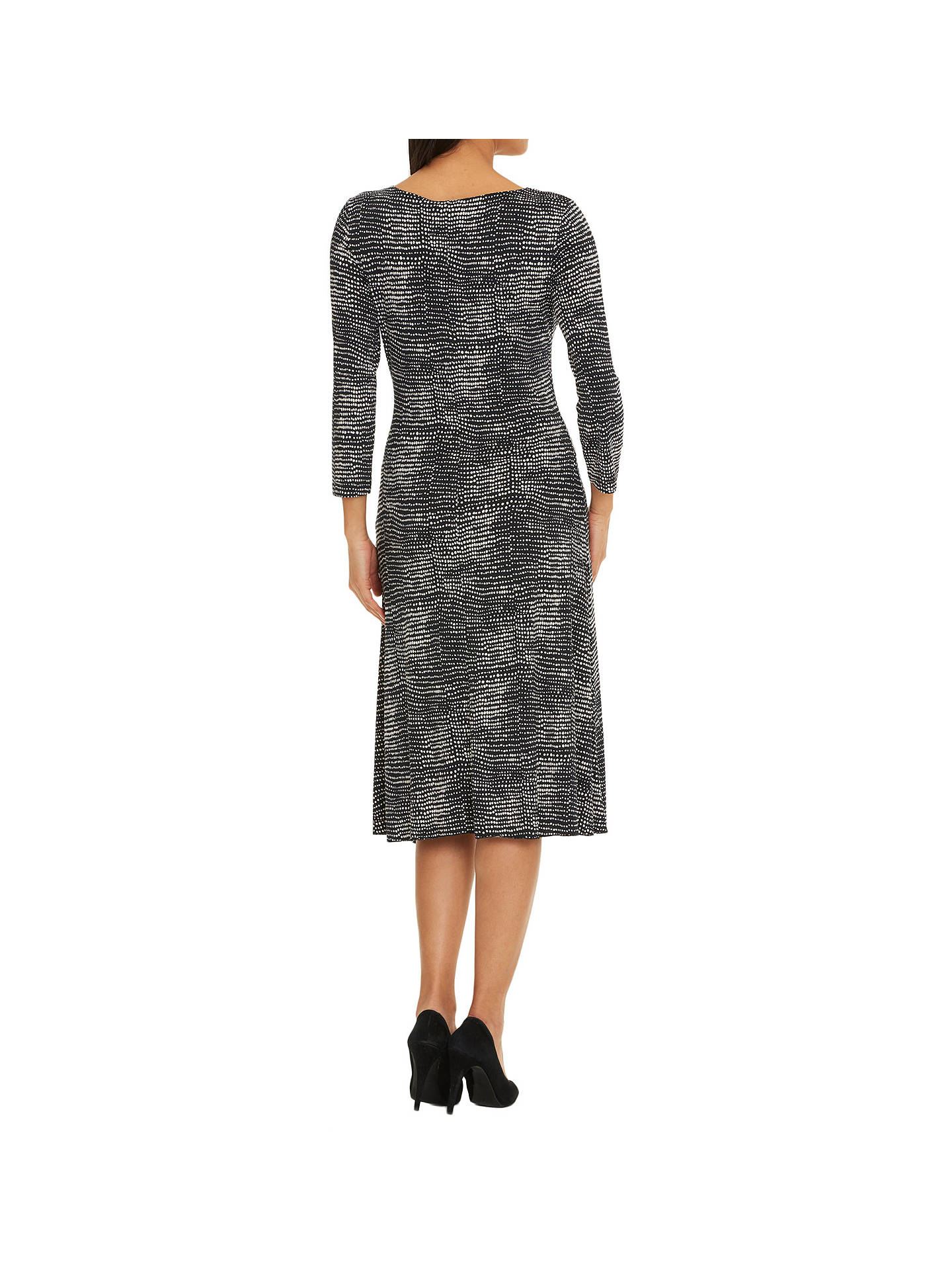 BuyBetty Barclay Polka Dot Print Dress, Black/White, 8 Online at johnlewis.com