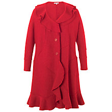 Buy Chesca Flounce Trim Wool Coat, Red Online at johnlewis.com